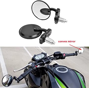 Chrome Motorcycle Rearview Mirrors round moto bar mirror for 22mm handlebar