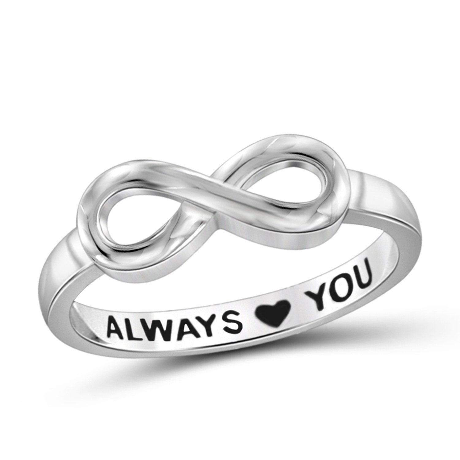 Engraved With Always Love You Infinity Ring