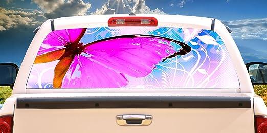 AURORA Rear Window Graphic back truck decal suv view thru vinyl car