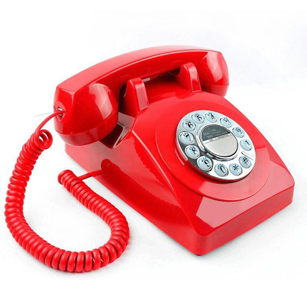 Hongyan Phone Ménage Fixe Téléphone Fixe Européenne Macarons Antique Mode Antique Européenne Téléphone Rétro Vintage Antique Américain Filaire HYX (Couleur : Blanc)