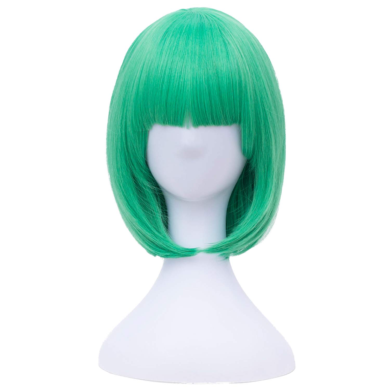Amazon.com   Green Bob Wigs Short Wig for Women with Bangs Straight  Synthetic Wig Natural As Real Hair BU149   Beauty ad7be1f918d4