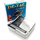 OCB 16925 Zig Zag Regular Rolling Box for the perfect Cigarette Rolling Machine, Chrome, Silver, 8 x 8 x 2 ""