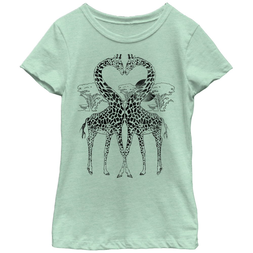 Fifth Sun Big Girls' Travel Inspired Graphic T-Shirt, Mint/Black, Large/10/12