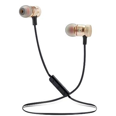 yyq inalámbrico Bluetooth auriculares deporte Bluetooth 4.1 Headset magnet-adsorption Sweatproof auriculares con cancelación de