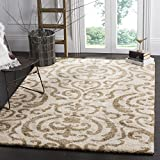 Safavieh Florida Shag Collection SG462-1113 Cream and Beige Area Rug (5'3″ x 7'6″) Review