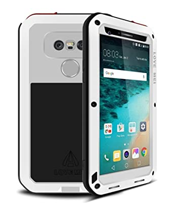 Amazon.com: LG G5 caso, bpowe Love Mei Gorilla Glass Lujo de ...