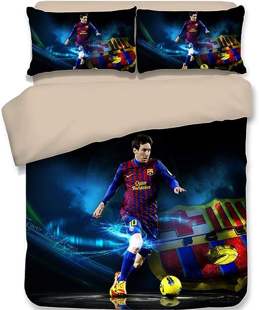 NEW BARCELONA FOOTBALL CLUB SINGLE DUVET QUILT COVER SET BOY KIDS BEDROOM GIFT