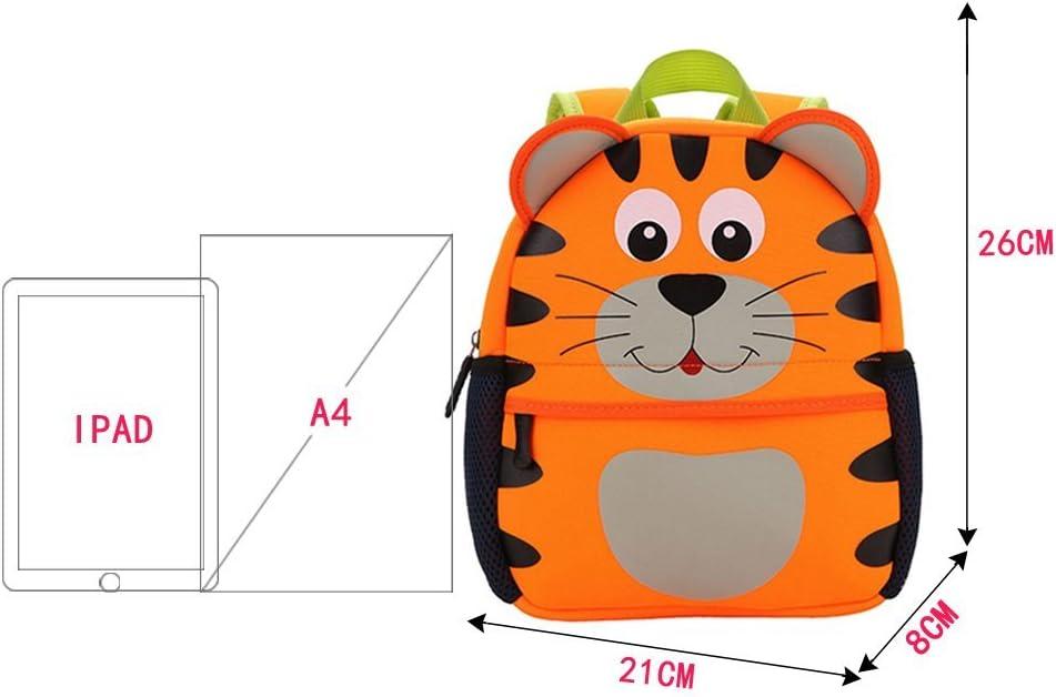 Kinderrucksack Bunter Leichter und Moderner Babyrucksack S/ü/ßer Cartoon Tier Design auf der Schultasche f/ür Kinder 2-5 Jahre Alt f/ür Junge und M/ädchen Affe