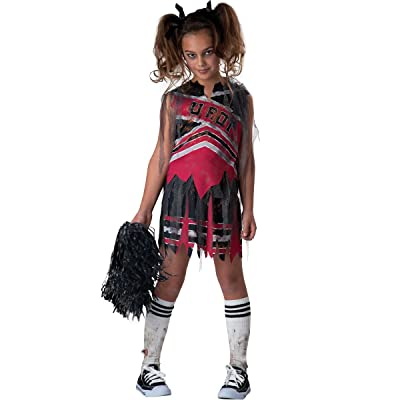 InCharacter Fun World 1707010 Spiritless Cheerleader Girls Costume, Size 10, Multicolor: Toys & Games