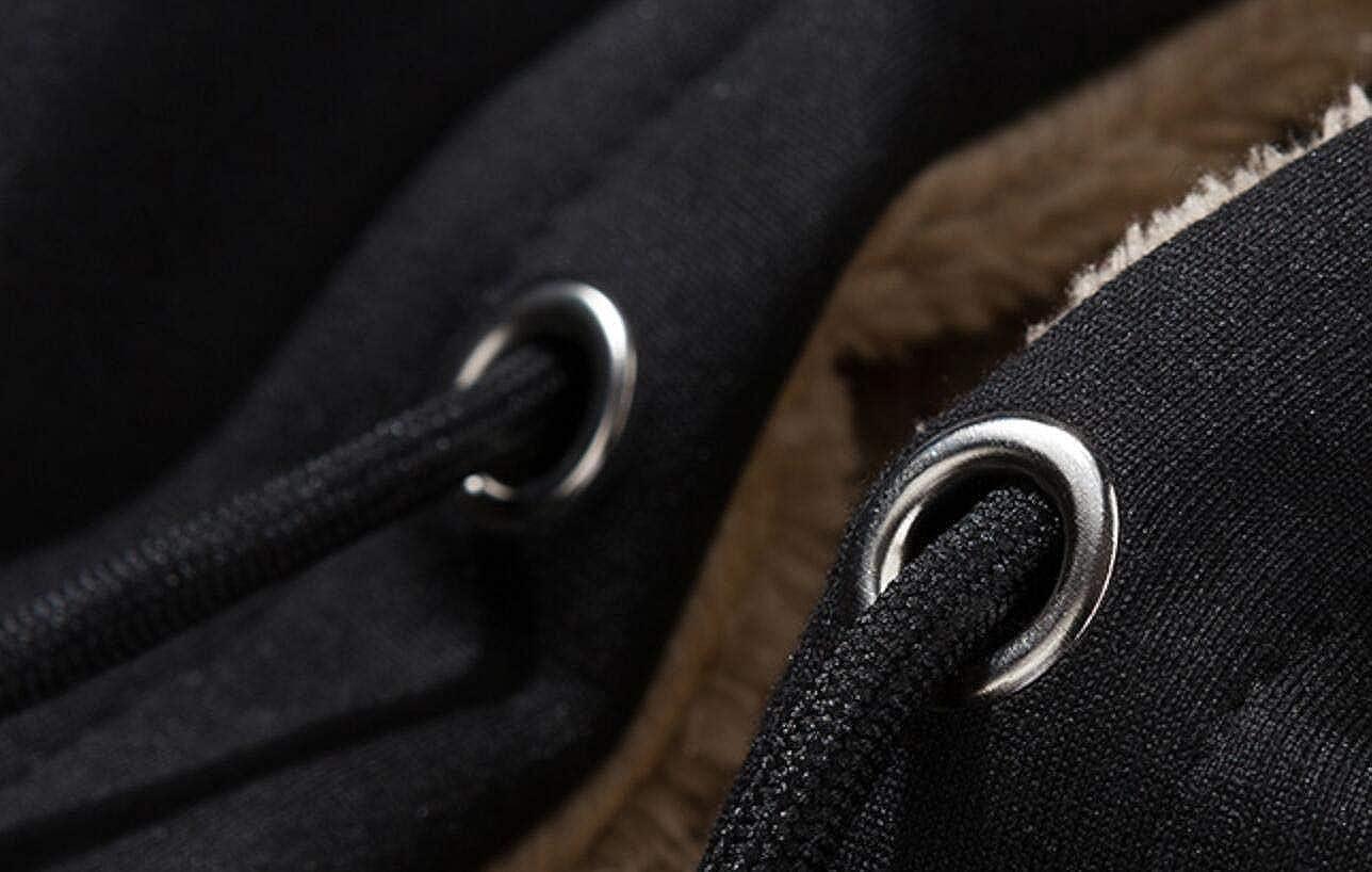 Frieed Mens Hoodie Linen Fleece Drawstring Zipper Thicken Sweatshirt Jacket