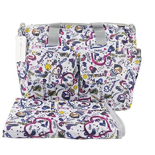Orgrimmar Multifunction Baby Diaper Tote Bags Nappy Mummy Handbag (Hearts) ()