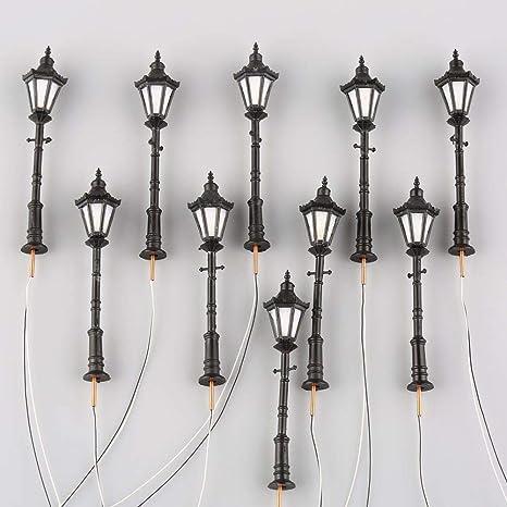 100 stücke Vorverdrahtete Modell Laternenpfahl Lichter Led beleuchtung Kit