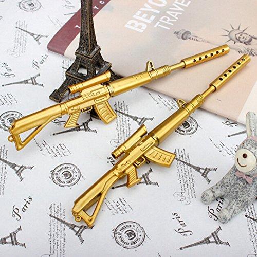 KitMax Cute Cool Novelty Sniper Rifle Gun Shape Gel Ink Pen Office School Supplies Students Children Gift, 12 Count