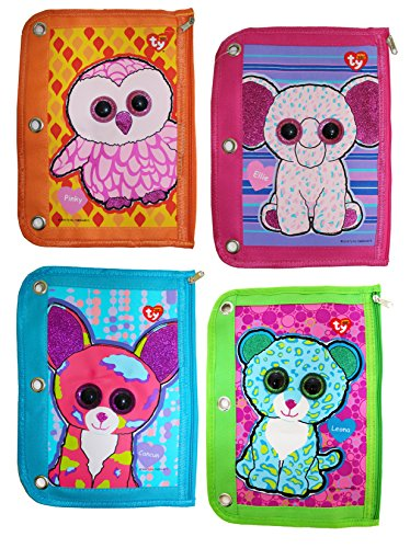 (Ty Beanie Boos 3 Ring Binder Pencil Pouch, 10 x 7.5 Inches, Assorted Design Will Vary, 1 Count (813-2))