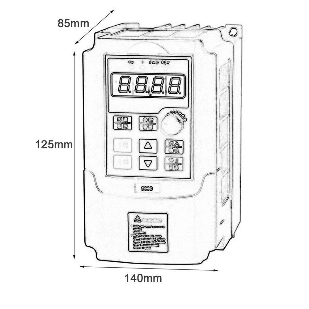 Schwarz Oyamihin Mini Portable 0.75kw-G 220V Einphasen-Frequenzumrichter 220V 3 Phasen Ausgangsfrequenzumrichter Eingebauter Benutzer-Timer