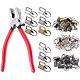 """F-BBKO 30Sets 1"""" Key Fob Hardware - 3 Colors 25mm Key Fob Key-chain Perfect with 1Pcs Key Fob Glass Running Pliers for…"""