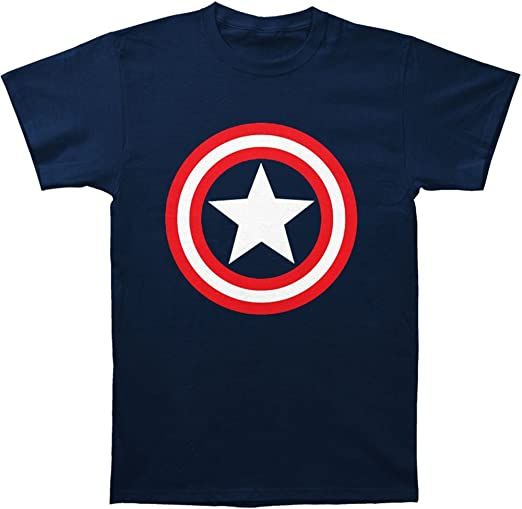 NEW Marvel Captain America Mens Sizes S-M by MAD ENGINE T-SHIRT