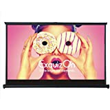 ExquizOn Indoor Outdoor Pull-Out Projector Screen 50 Inch 16:9 Home Cinema Portable Table-Top Movie Screen, Matte White Fabric