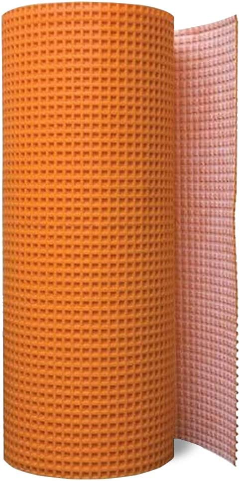 Uncoupling Membrane 1/8 inch Thick, 3.3 ft x 98.5 ft / 323 Square Feet, Uncoupling Membrane for Under Tile, Tile Underlayment Mat, Waterproofing, Anti-Fracture and Crack Isolation Membrane