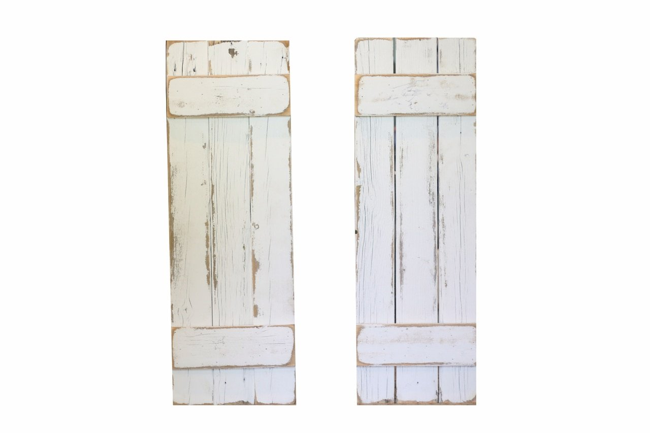 Doug and Cristy Designs White Distressed Farmhouse Shutters by Doug and Cristy Designs (Image #2)