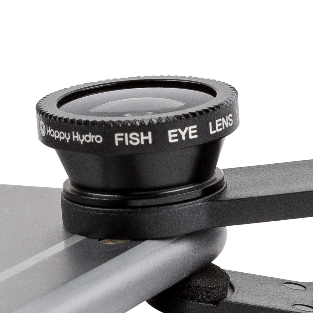 Happy Hydro - Clip On Macro Lens Kit - Includes Macro, Wide Angle, and Fisheye Lenses - for iPhone and Android by Happy Hydro