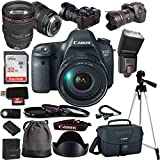 Canon EOS 6D Digital SLR Camera + EF 24-105mm f/4L IS USM Lens Kit + Accessory Bundle (17 Piece Bundle)