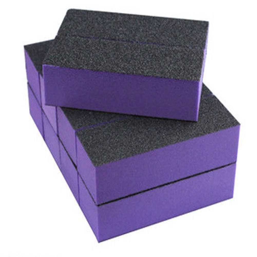 Baisidai 10 PCS Buffer Block for Nail Art Tool (Purple)