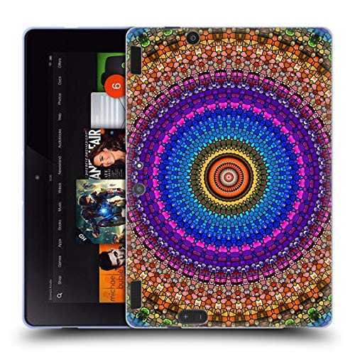 (Official Haroulita Stained Glass Mandala Soft Gel Case for Amazon Kindle Fire HDX 8.9 )