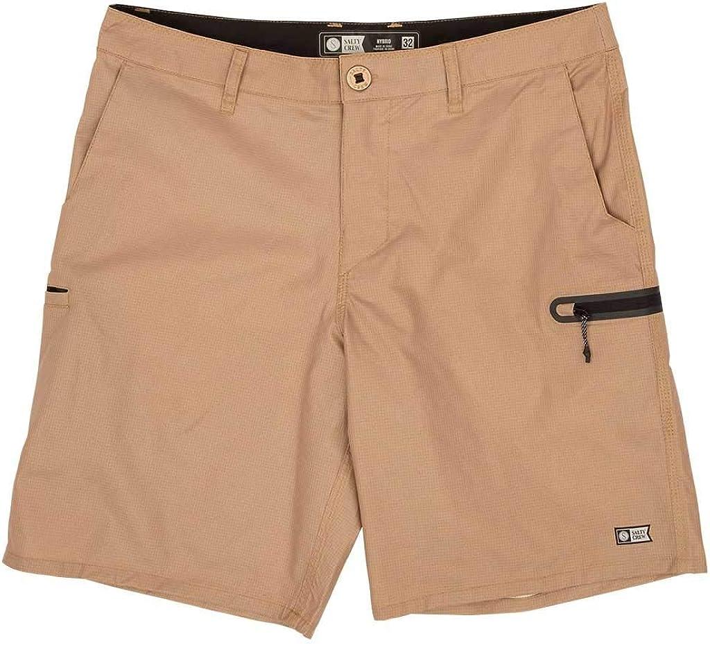 Salty Crew High Seas Perf Walk Shorts - Khaki