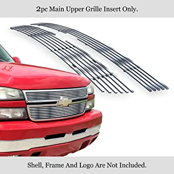 APS Fits 2006-2007 Chevy Silverado 1500//05-06 2500HD Stainless T304 Billet Grille Grill #N19-C60356C
