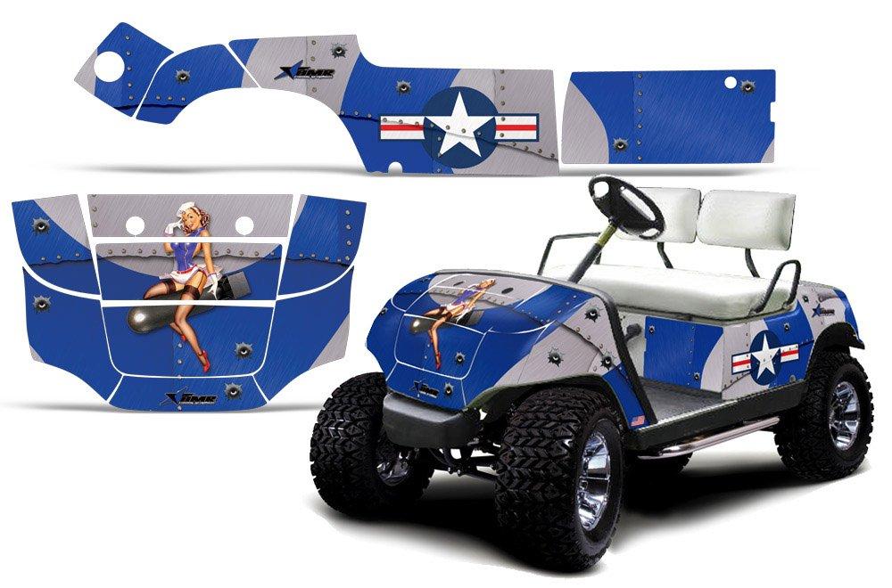 1995 – 2006 YamahaゴルフカートAMRRACING ATVグラフィックスデカールkit-t-bomber-blue   B00J9VSUEE
