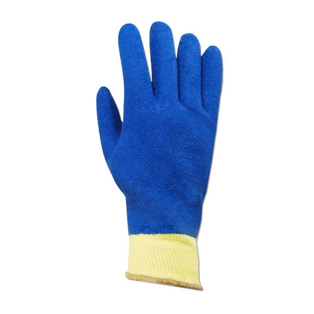 Magid Glove & Safety KEV6530-10 Magid K-ROC KEV6530 Kevlar Full Latex Coated Gloves - Cut Level 3, 9, Yellow, 10 (Pack of 12)