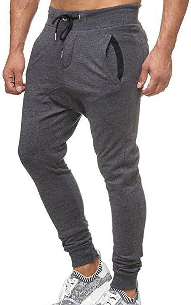 Solid Casual Loose Sweatpants Drawstring Pant Trousers TANGSen Fashion Mens Sport Jogging Fitness Pant