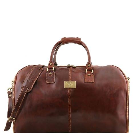 Tuscany Leather Antigua Maleta de Viaje/Porta Trajes en Piel ...