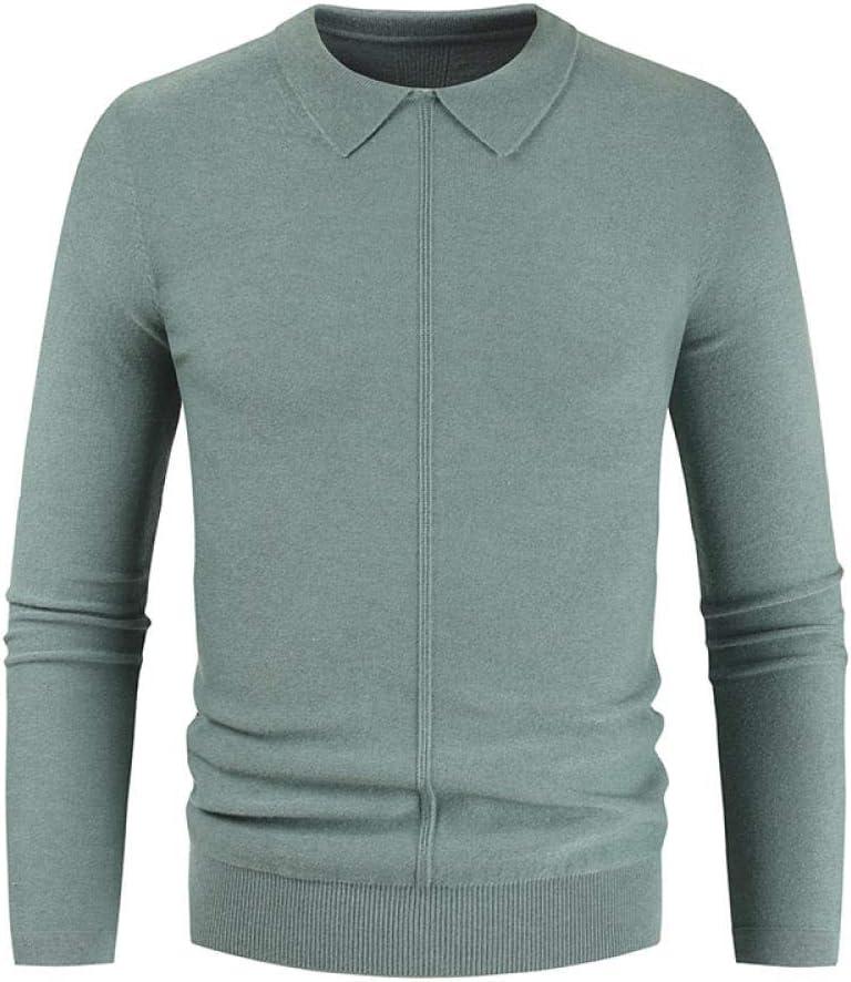 N / A Otoño Invierno Hombres Casual suéter cálido Jerseys Turn Down Shirt Collar Hombres Tejido patrón trajes suéter Abrigo Hombres 1