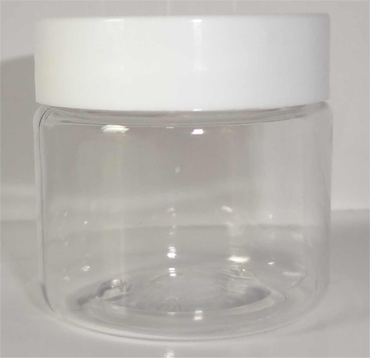 1-oz Clear Jars with Smooth White Lids (Set of 24)