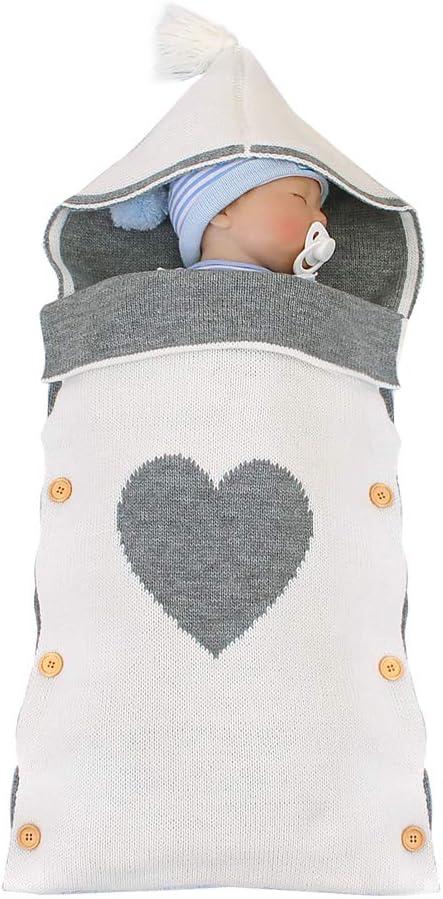 Imagen deSaco de Dormir para Recién Nacidos Manta para Dormir Bebé con Capucha Manta Saco Niños Niñas Infantil Cálido Bebé Envolvente Manta de Algodón Retangular Manta para Envolver Bebé para 0-9 Meses
