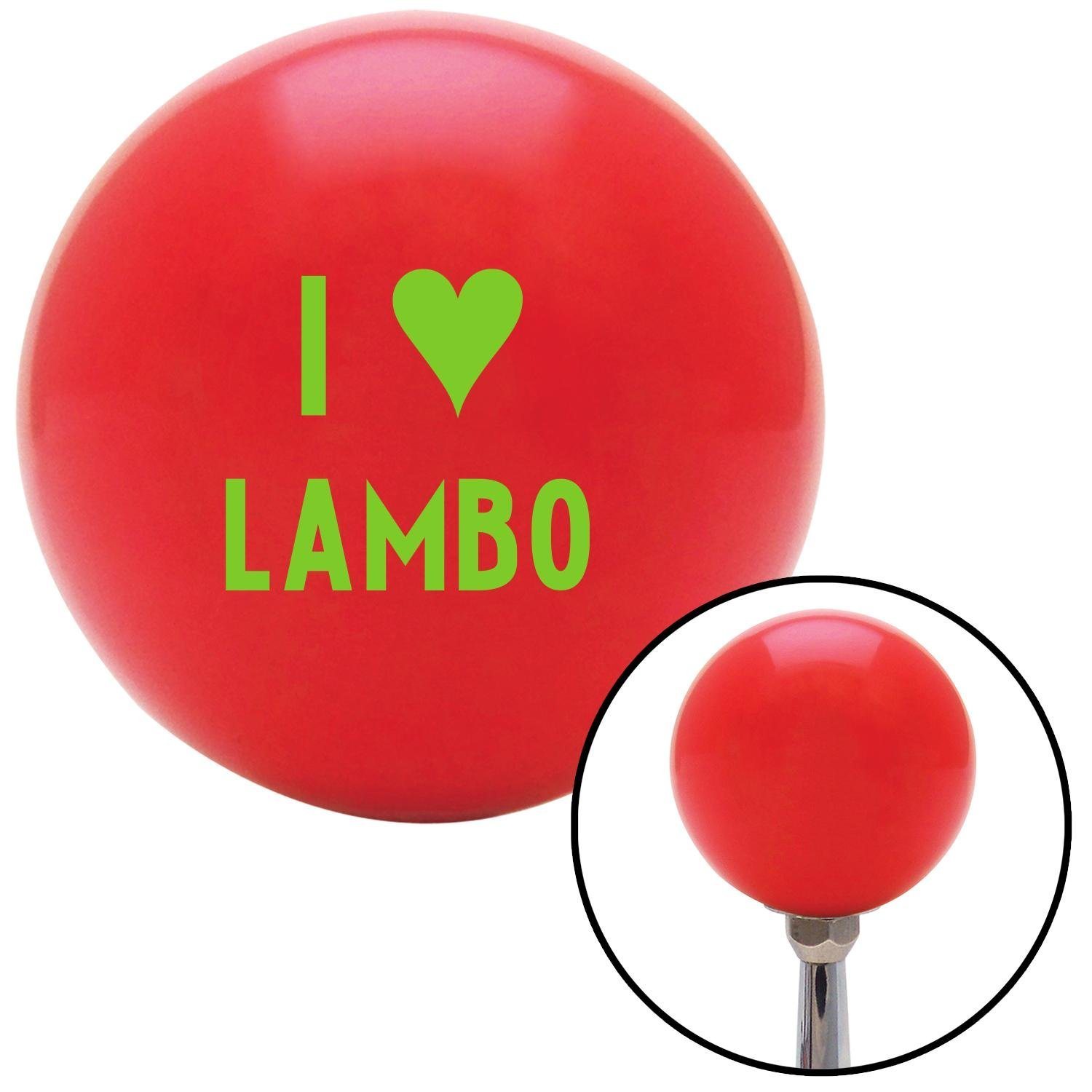 Green I 3 Lambo American Shifter 96724 Red Shift Knob with M16 x 1.5 Insert