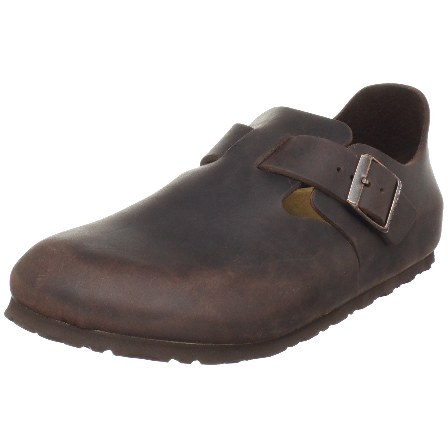 Amazon.com | Birkenstock Unisex London Slip-On, Habana Oiled Leather, 38 M  EU | Flats