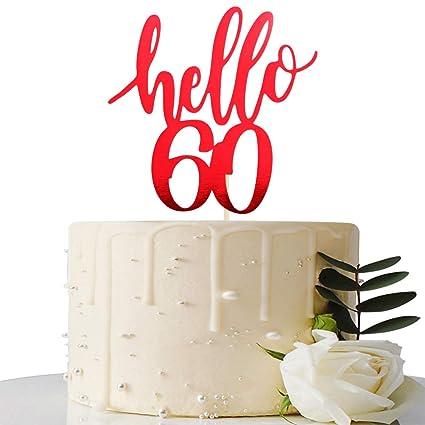 Decoración para tarta de 60 cumpleaños (60 aniversarios ...