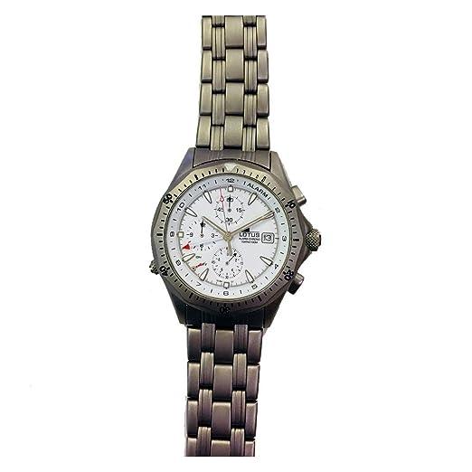 Reloj Lotus 15166/1 Titanio, con Calendario, cronógrafo y Alarma: Amazon.es: Relojes