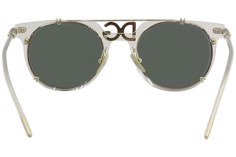 8aba00960d74 Amazon.com: Dolce & Gabbana Men's 0DG2196 Clear/Pale Gold/Light Green  Mirror Petrol One Size: Clothing