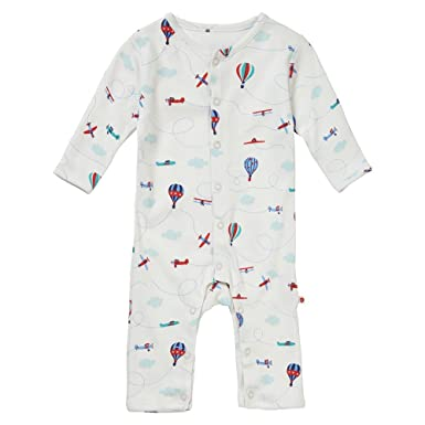 8c86c3acf742 Piccalilly Organic Cotton Baby Boys Footless Romper Sleepsuit ...