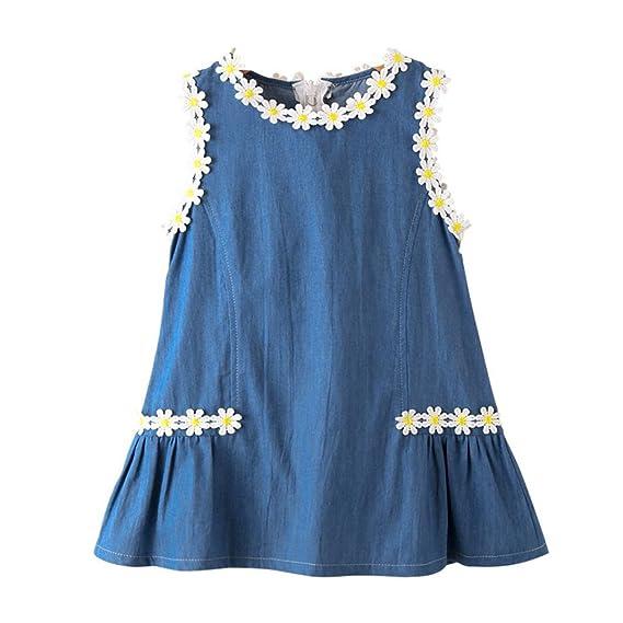 Beikoard Niña Vestido Liquidación, Vestidos y Faldas niñas Ropa Bebe Desfile de Ropa de Mezclilla