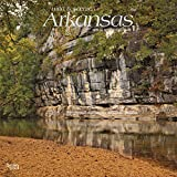 Arkansas, Wild & Scenic 2019 12 x 12 Inch Monthly Square Wall Calendar with Foil Stamped Cover, USA United States of America Southeast State Nature