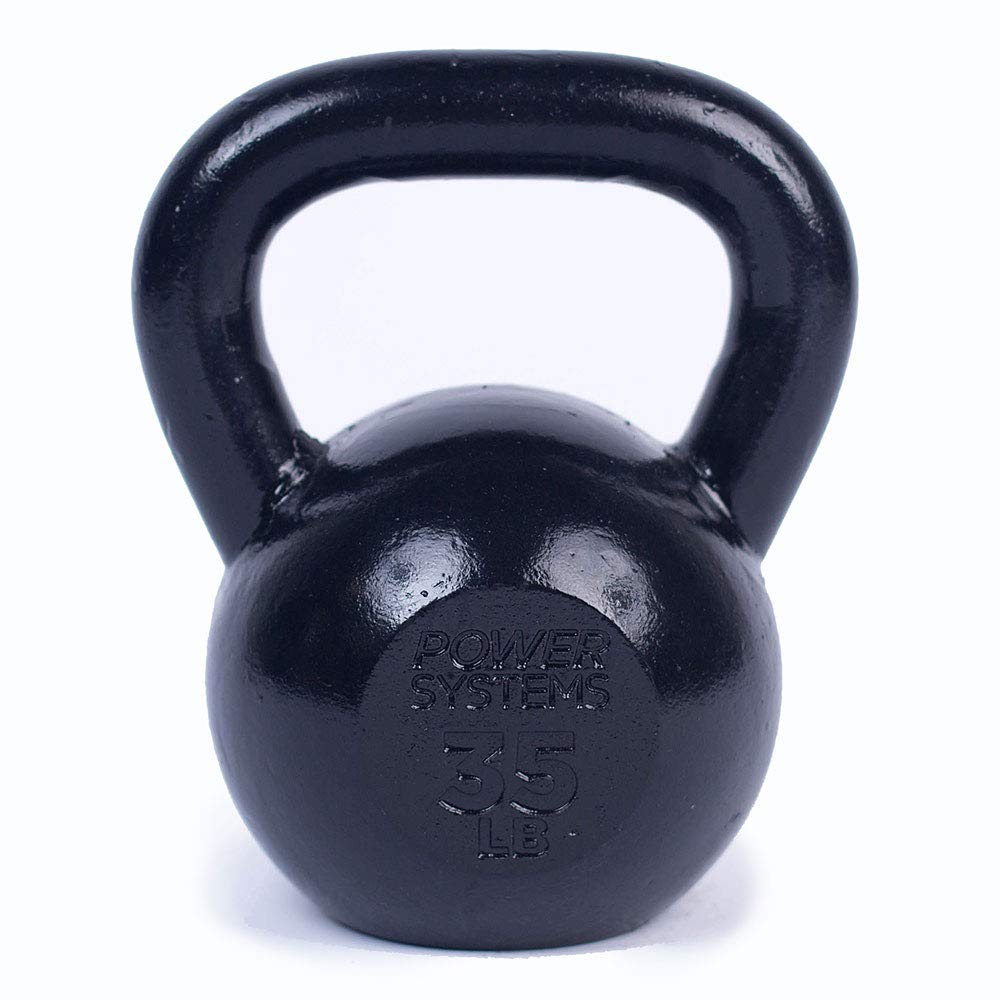 Power Systems Kettlebell, 35 Pounds, Black (50216)