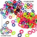 Cubaco 200 Pack Baby Girl Hair Bands Ties Elastics For Toddler No Crease Ponytail Holders Tiny Soft Rubber Bands