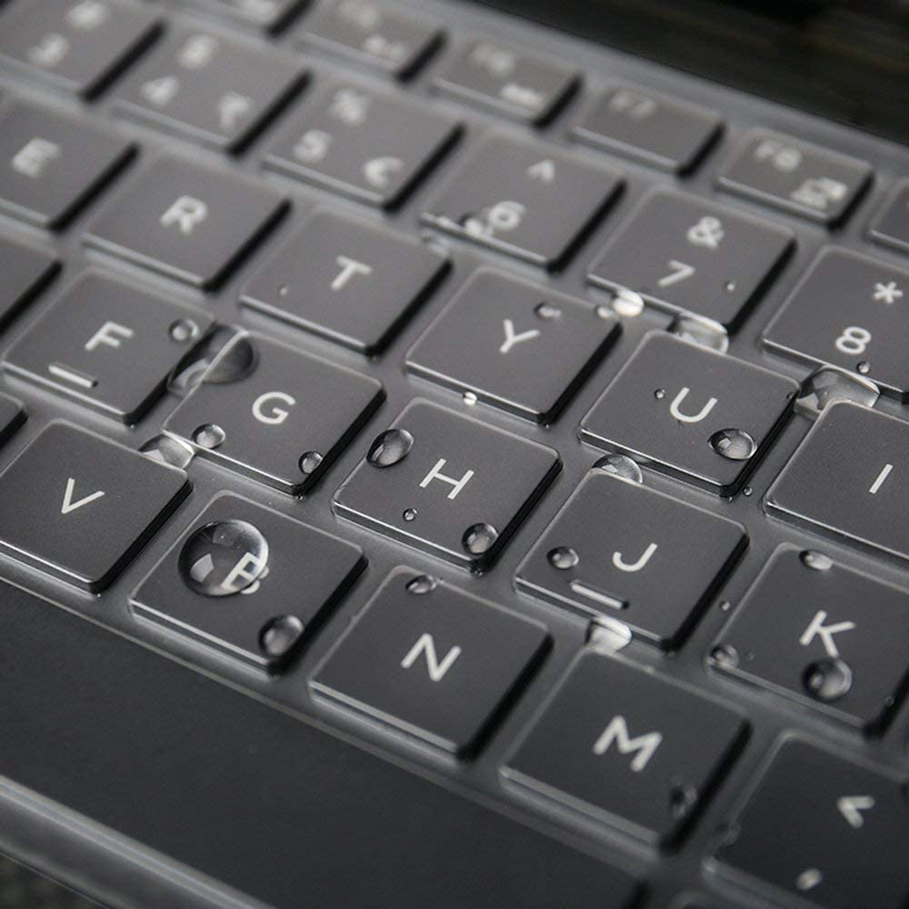 """Ultra Thin Keyboard Cover Compatible with 15.6"""" Dell XPS 15-7590 15-9570 15-9560 13-9550 Laptop - TPU"""