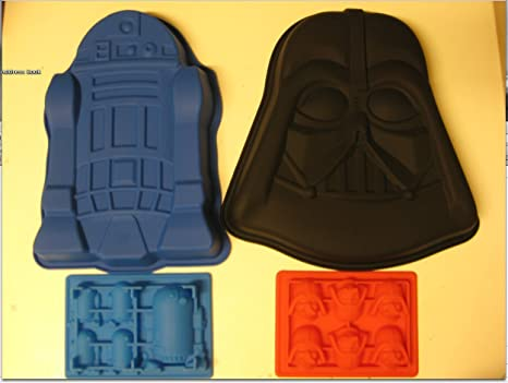 Amazon.com: Star Wars R2-D2 Darth Vader silicona torta de ...