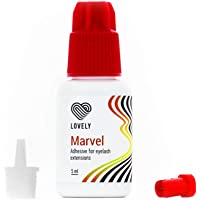 LOVELY MARVEL wimperlijm (5ml, kleur: ZWART) snelle lijm, droogtijd: 1 seconde, 8 weken hechting, lage stoomontwikkeling…